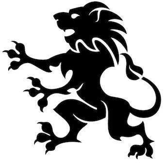 黒の紋章のライオンのイラスト