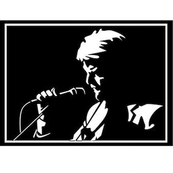 デヴィッド·ボウイイギリスのポップ歌手のイラスト
