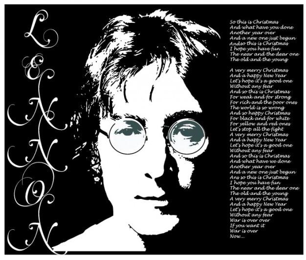 ジョン·レノンの肖像の歌詞ベクトル