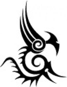 部族の獣形タトゥーのテンプレートベクトル
