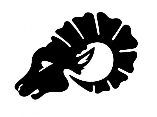 Овен голове символ