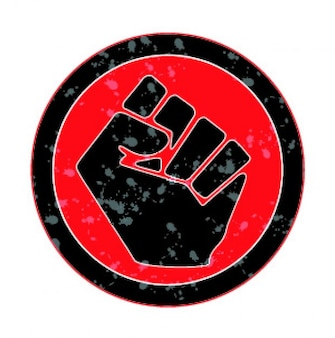 Круговой дизайн иконка кулака