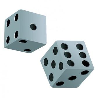 Пару кубиков в черно-белом