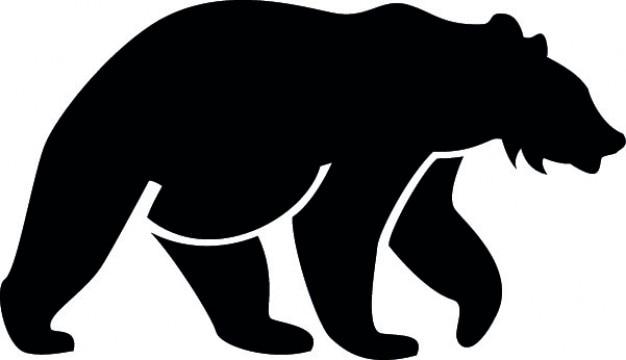 Медведь стороне силуэт