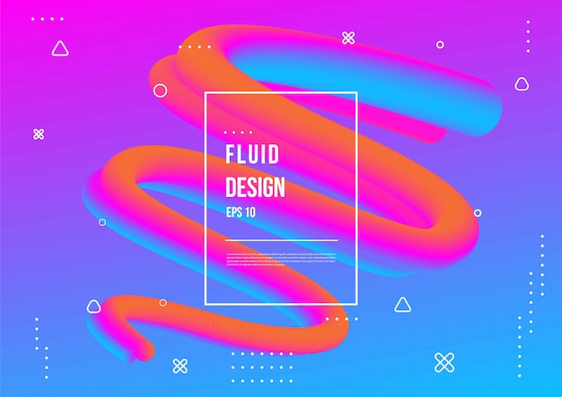 Абстрактный цвет жидкости с современным геометрическим динамическим стилем движения