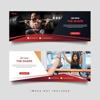 Шаблон баннера для спортзала и фитнеса
