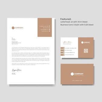 Профессиональный креативный бланк и шаблон визитной карточки