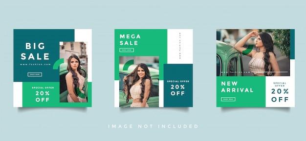 ファッションソーシャルメディアフィードポストプロモーションデザインコレクション