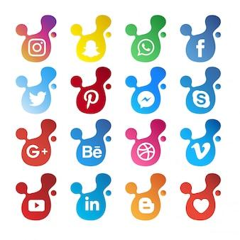 現代ソーシャルメディアのアイコン