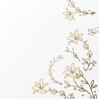 Роскошный цветочный фон шаблона