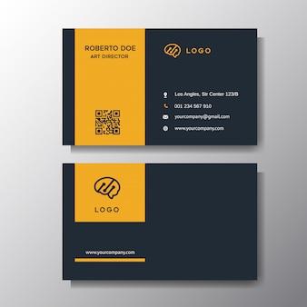 Современная оранжевая визитная карточка