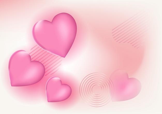 美しい愛の背景のベクトル
