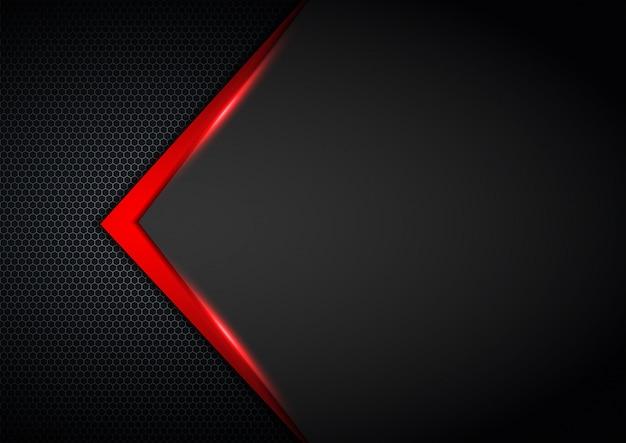 銀色の輝きと赤い光で暗い背景の重なり合う層