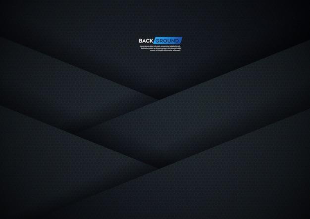 六角形の質感を持つ暗い背景オーバーラップ層