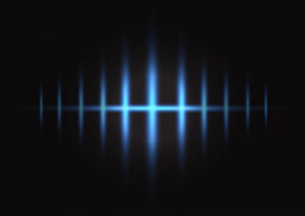 青い光と暗い背景の重なり合う層