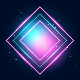 ネオン輝くテクノライン、ハイテク未来的な抽象的な背景
