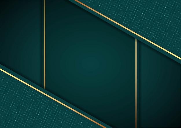 緑の紙層と美しい緑の背景。幾何学的な図