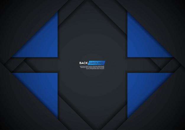 Темный фон перекрывают слой с синей формой