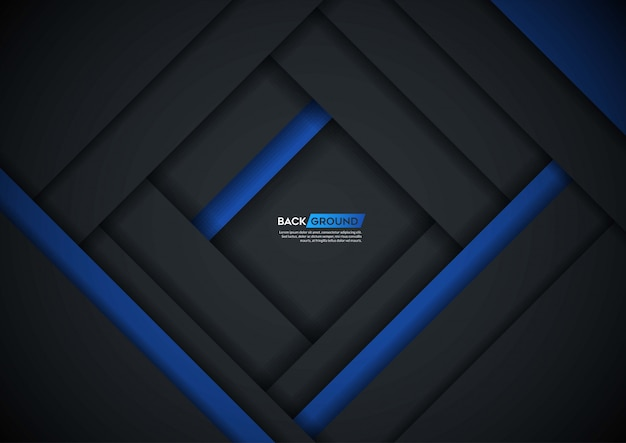 青い形状の暗い背景のオーバーラップレイヤー