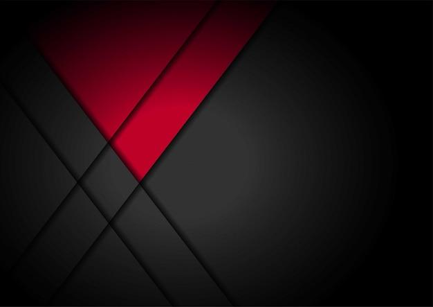 波状のメッシュの背景を持つ黒の赤い光の矢印