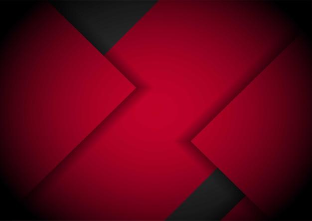 波状メッシュバックグラウンドカバーレイアウトテンプレートと黒の赤い光の矢印