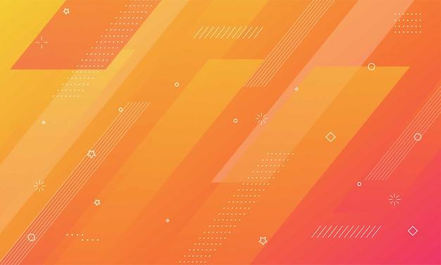 Красочный геометрический фон. динамическая композиция фигур