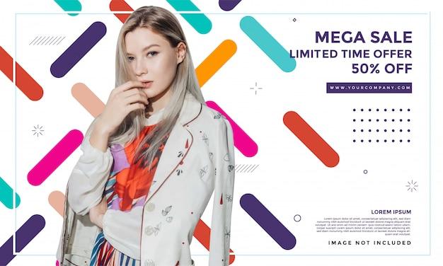 Дизайн шаблона продажи баннеров моды