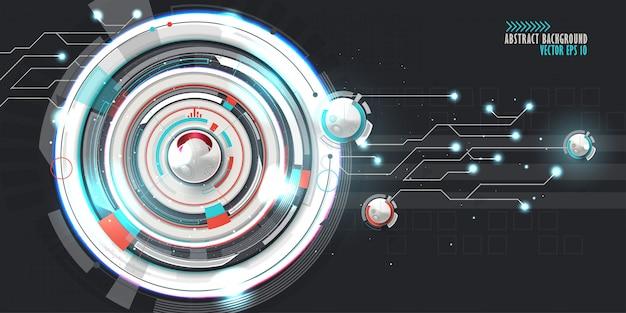 様々な技術要素と抽象的な技術的背景。