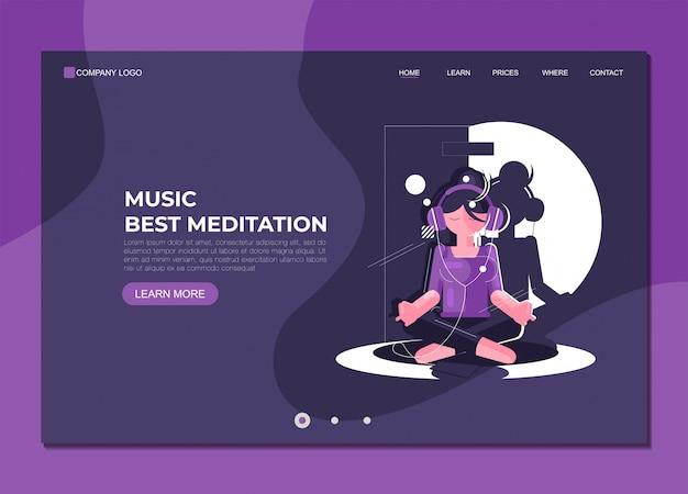 Шаблон целевой страницы музыка лучшая медитация