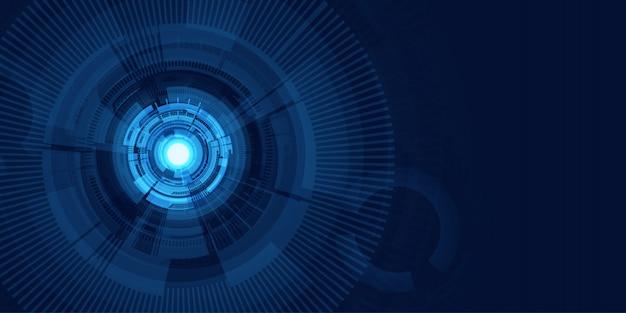 Абстрактный футуристический синий баннер фон