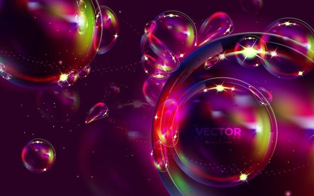 液体の色と抽象的な背景。グラデーションの背景。モダンなカラフルなスタイルのベクトル