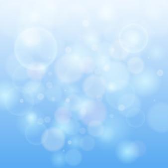 Синий боке абстрактный светлый фон