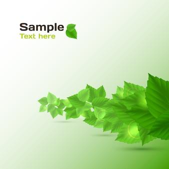 Абстрактный фон в зеленом цвете