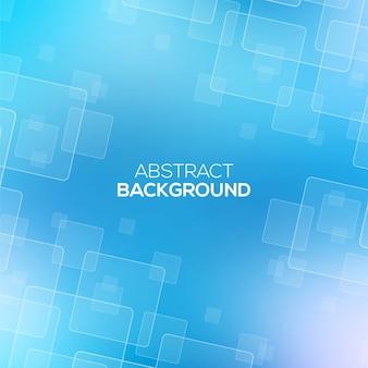 透明な正方形の抽象的な青い背景。
