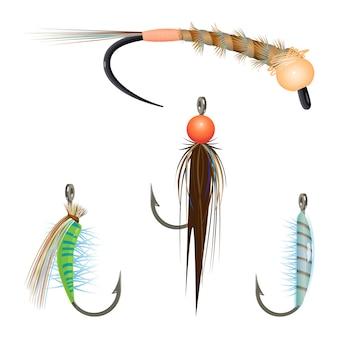 ロープを回して釣りのための餌の種類