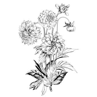 ヴィンテージのエレガントな花。