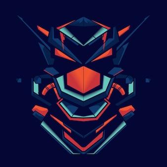 ロボット戦闘機のイラスト