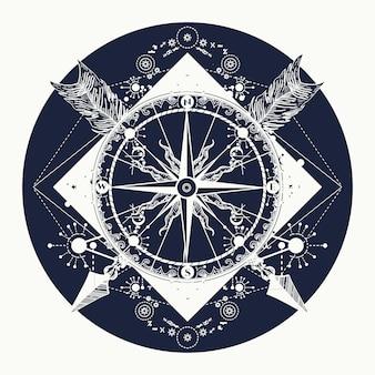 Тату компас