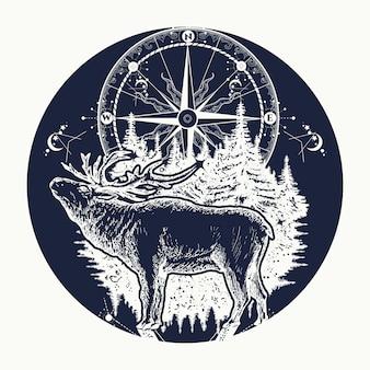 Олень и компас