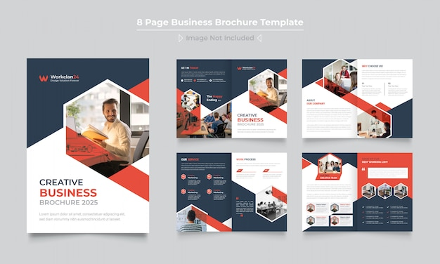 創造的なビジネスパンフレットテンプレートデザイン