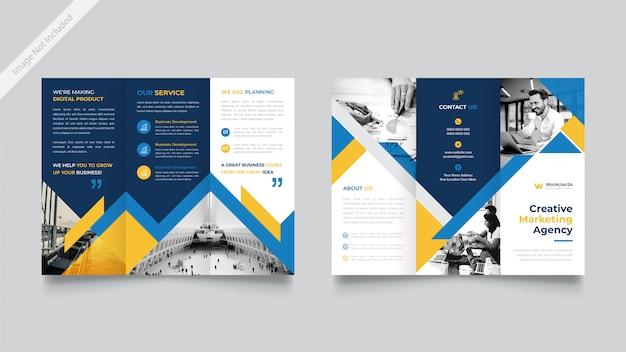 Корпоративный тройной шаблон брошюры