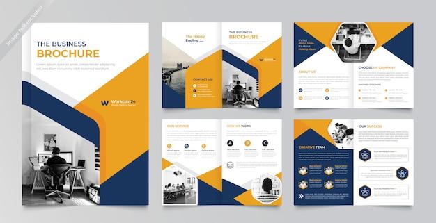 Бизнес брошюра дизайн премиум шаблон