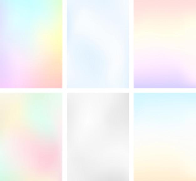 抽象的なぼかし光グラデーションセットの肖像画