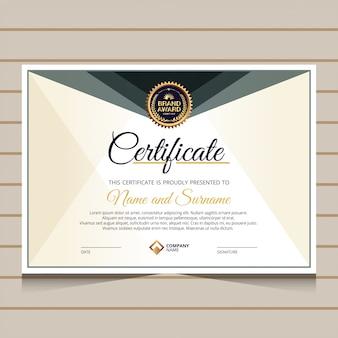 Элегантный и роскошный сертификат