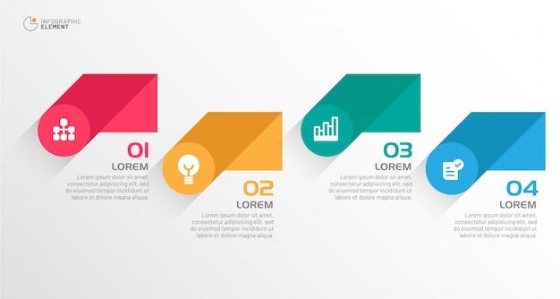 現代のビジネスのインフォグラフィック