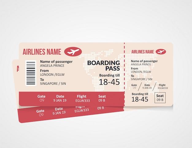 搭乗券のテンプレートデザイン