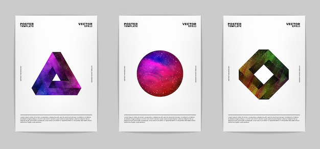 モダンな抽象ポスターセットのセット