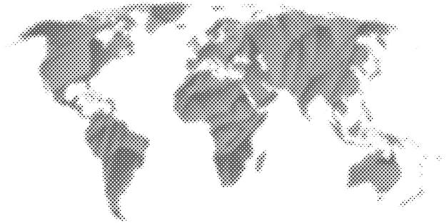 抽象的なハーフトーンの世界地図。