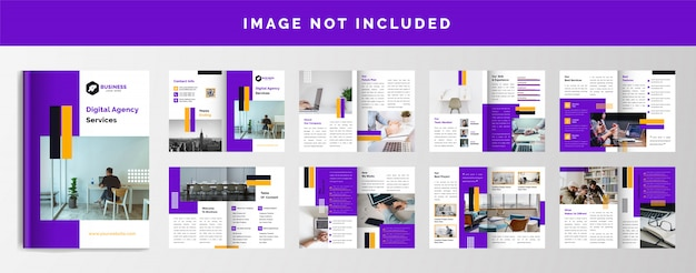 デジタル代理店のパンフレットのデザインテンプレート