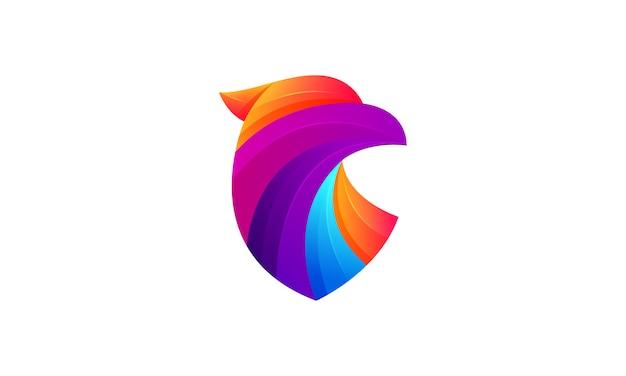 Орел современный градиент красочный логотип